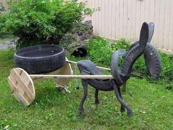 10 ідей виробів зі старих шин!
