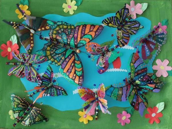 метелики з пластикових пляшок, фото з сайту stranamasterov.ru