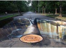 3D-малюнки на паркових доріжках
