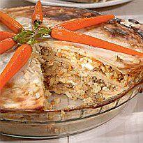 Блінчатий пиріг з м`ясом і яйцями