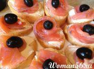 Бутерброди з червоною рибою оформлення - фото