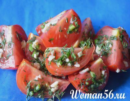 Швидкі малосольні помідори