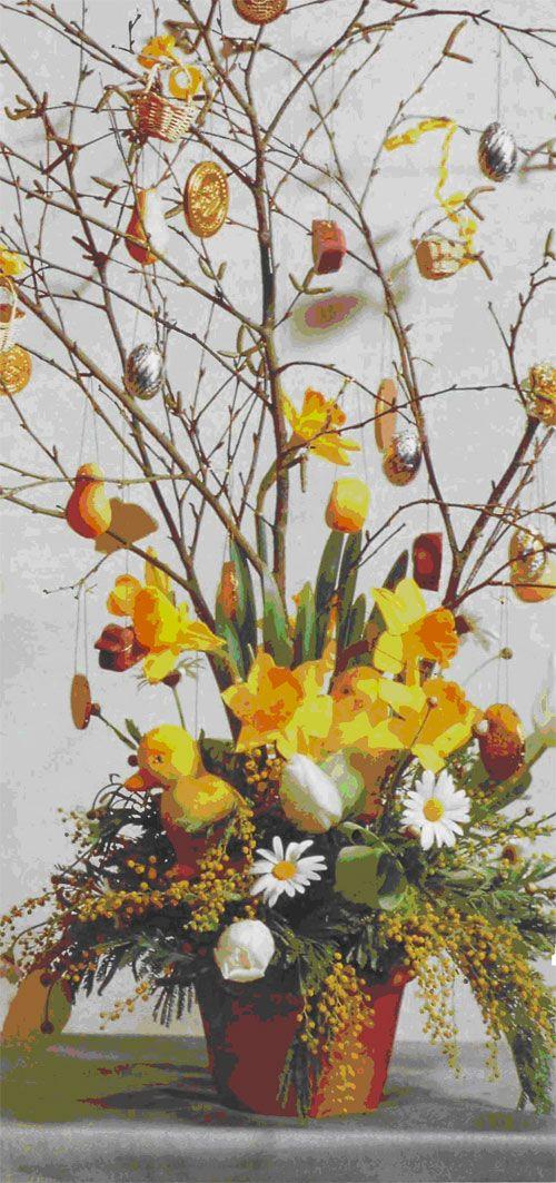 Квіткова великодня композиція своїми руками