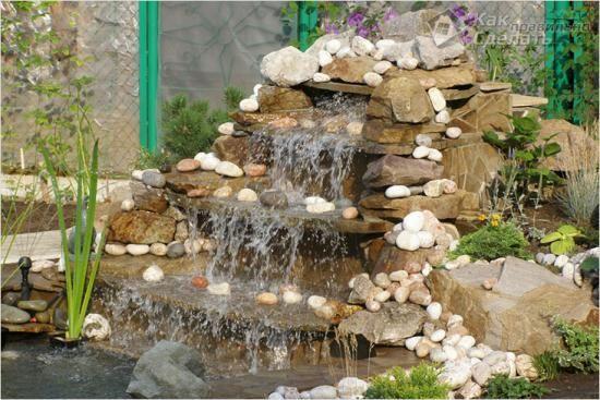 Робимо водоспад на дачі своїми руками: покрокова інструкція