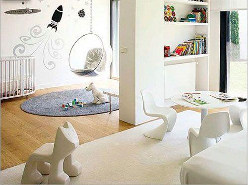 Використання стелажів для створення дитячої кімнати в вітальні