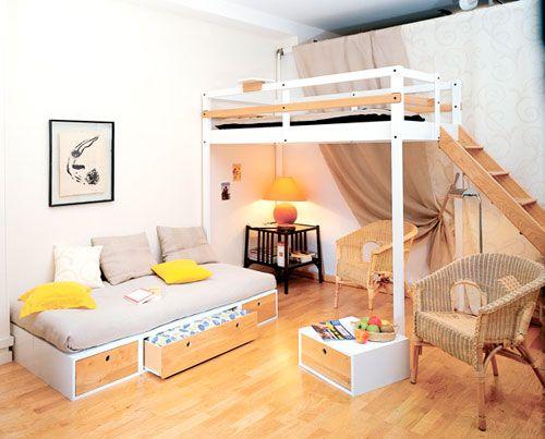 Спальне місце в дизайні дитячої кімнати в вітальні