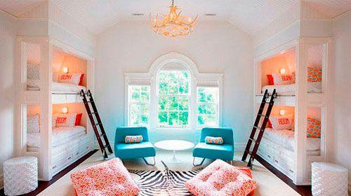 Використання двоярусних ліжок для дизайну дитячої кімнати в вітальні