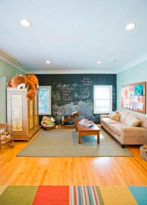 Використання грифельної покриття в дизайні дитячої кімнати в вітальні
