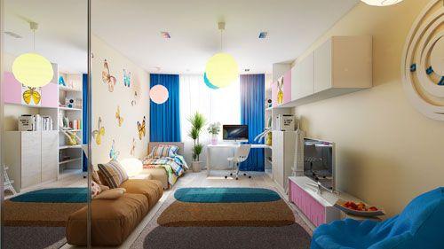 Непродуманий дизайн дитячої кімнати в вітальні