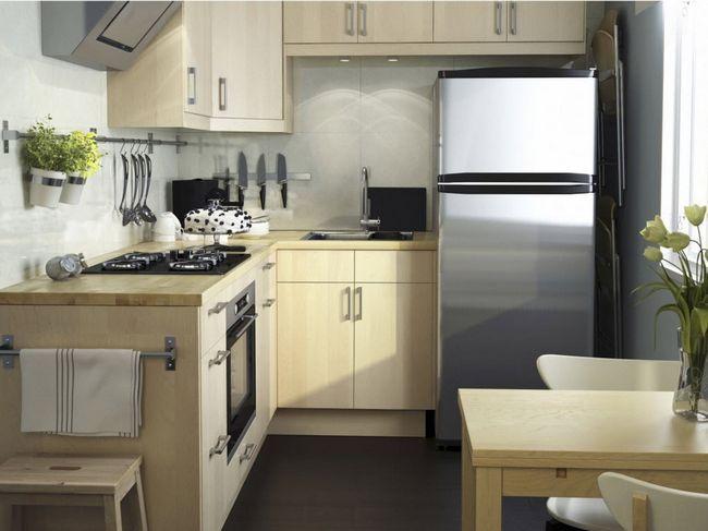 Планування г-подібної форми для маленької кухні