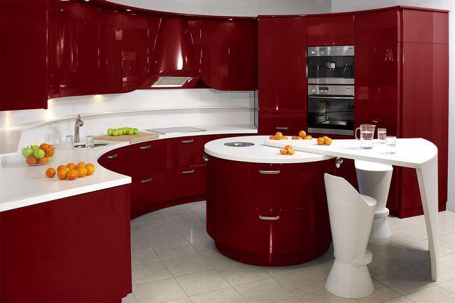 Напівкруглий дизайн маленької кухні
