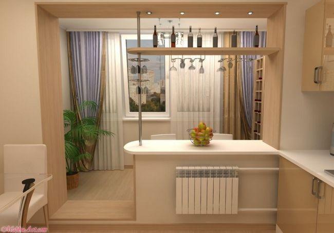 Розширення кухні за рахунок балкона