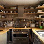 Розташування полиць по периметру кухні