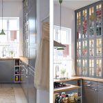 Сіра маленька кухня