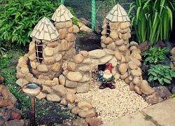 Фігурки для саду з каменю і дерева своїми руками