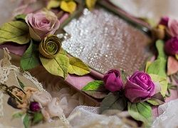Фоторамки з квітковим декором своїми руками