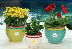 квіткові глиняні горщики