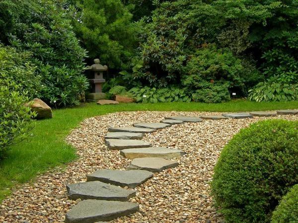 Гравій - ідеальний матеріал для створення неповторного саду