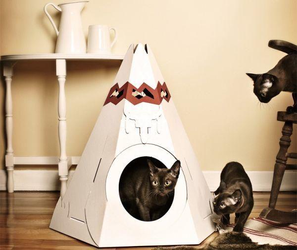 Вігвам для котиків, фото з сайту http://petsclan.com