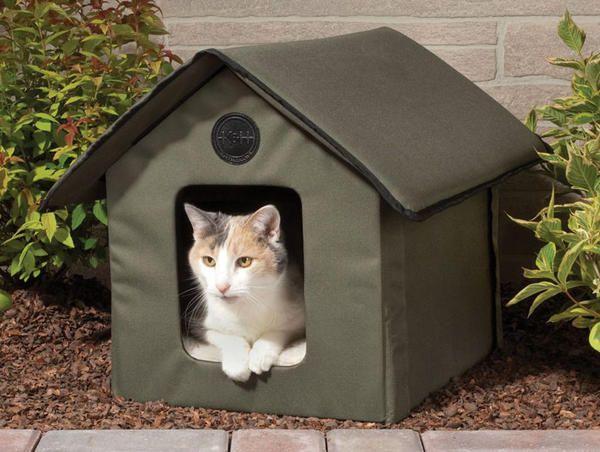 М`який складаний будиночок для кішки, фото з сайту http://thegreenhead.com