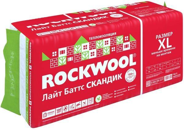 універсальний утеплювач для каркасних конструкцій ЛАЙТ БАТТС СКАДІК від компанії ROCKWOOL