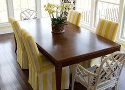 Як зшити ефектний чохол на стілець і задекорувати його?