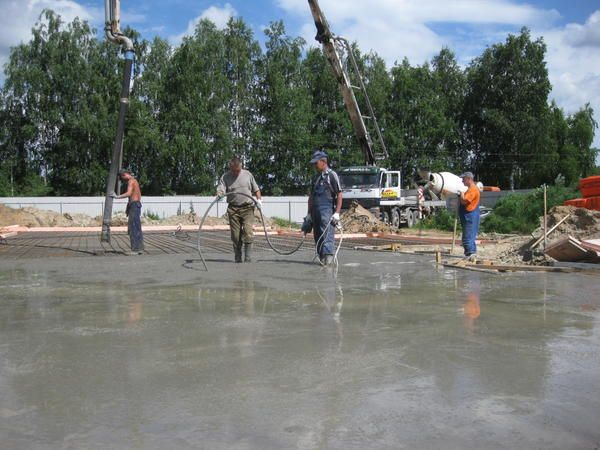 Бетонування фундаментної плити