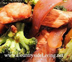Брокколі з куркою в воке по-китайськи (Стир Фрай). рецепт