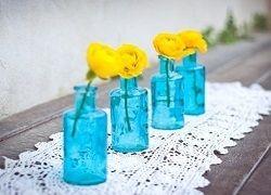 Креативна ваза з пляшки, банки