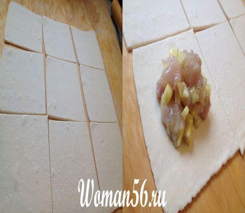 Курник з листкового тіста