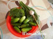 Малосольні огірки рецепт з фото