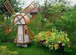 Млин для саду: технологія створення своїми руками з фанери