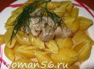 М`ясо в сметанному соусі