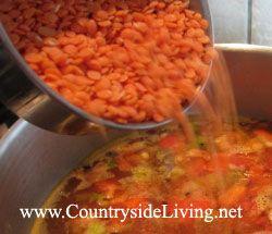 Суп з червоної сочевиці, рецепт