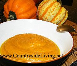 Суп-пюре з печеного гарбуза зі спеціями