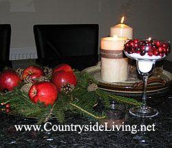 Новорічні композиції з фруктами