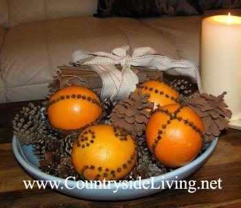 Помандери з апельсинів і гвоздики