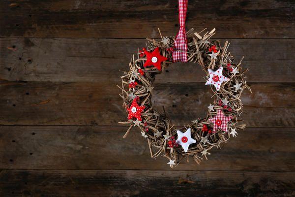 Різдвяний вінок з гілок