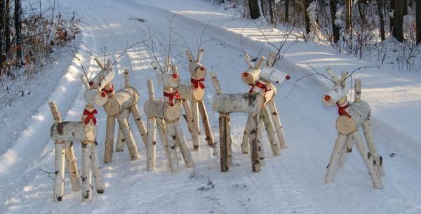 Стадо березових оленів. Фото з сайту rusticwoodworking.com