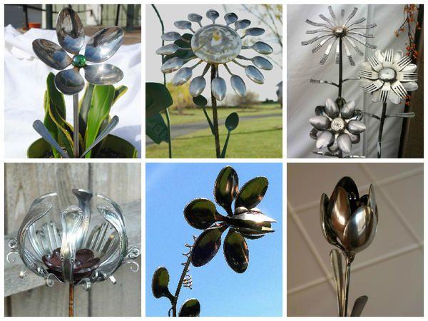 Квіти з ложок і виделок