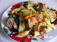 Овочеве рагу з м`ясом свинини