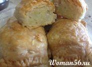 Печені пиріжки з картоплею і свининою