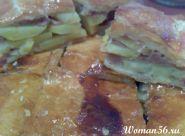 Пиріг з картоплею і фаршем
