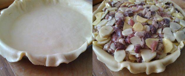 як робити пиріг з гусаком і картоплею
