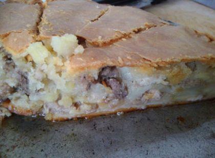 Пиріг з качкою і картоплею