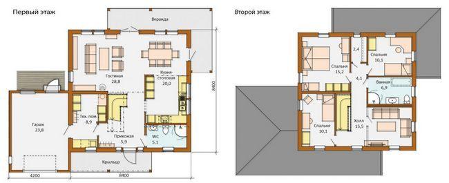 План будинку 8.4x8.4
