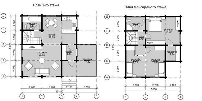План будинку 8.5x7.6