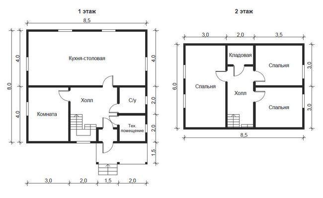План будинку 8,5х8