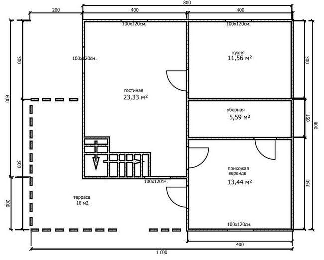 План будинку 8x8