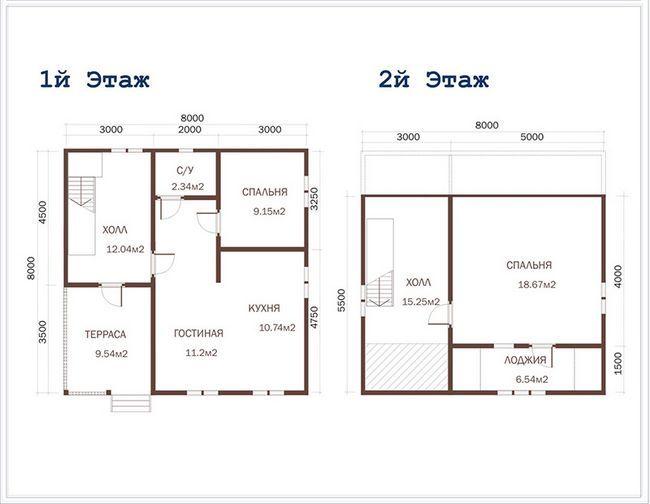 Схема будинку 8x8